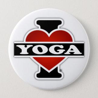 Bóton Redondo 10.16cm Eu amo a ioga