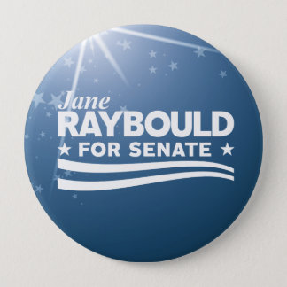 Bóton Redondo 10.16cm Jane Raybould para o Senado