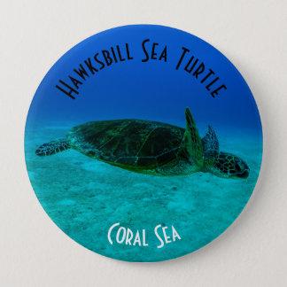 Bóton Redondo 10.16cm Mar coral do grande recife de coral da tartaruga