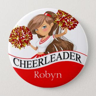 Bóton Redondo 10.16cm O cheerleader DIY escolhe seu vermelho das cores  
