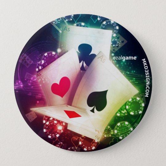 Bóton Redondo 10.16cm Poker