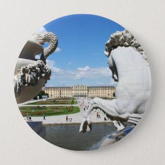 Bóton Redondo 10.16cm Uma vista do palácio de Schonbrunn em Viena,