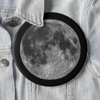 Bóton Redondo 15.24cm A lua da terra no jumbo do espaço