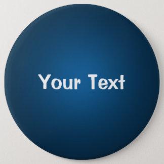 """Bóton Redondo 15.24cm Azul 6"""" modelo feito sob encomenda do botão do"""