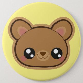 Bóton Redondo 15.24cm Botão engraçado do urso de Kawaii