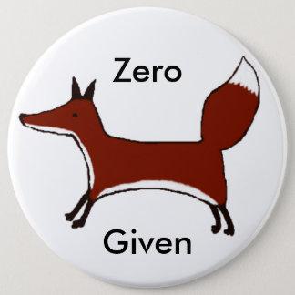 """Bóton Redondo 15.24cm Crachá dado """"Fox"""" zero, botão da raposa, ideias do"""
