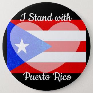 Bóton Redondo 15.24cm Eu estou com botão de Puerto Rico