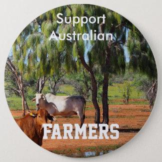 Bóton Redondo 15.24cm Fazendeiros do australiano do apoio