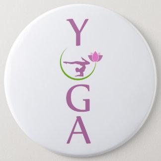 Bóton Redondo 15.24cm ioga com uns lótus cor-de-rosa