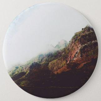 Bóton Redondo 15.24cm Montanhas, cena de relaxamento da paisagem da