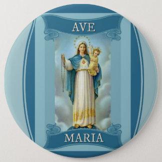 Bóton Redondo 15.24cm Rosário da CRIANÇA do CRISTO da VIRGEM MARIA da