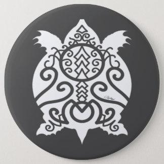 Bóton Redondo 15.24cm Tartaruga branca da caranga da silhueta