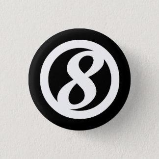 Bóton Redondo 2.54cm 8o Botão do círculo