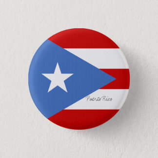 Bóton Redondo 2.54cm Bandeira da luz de Puerto Rico - vermelho azul e