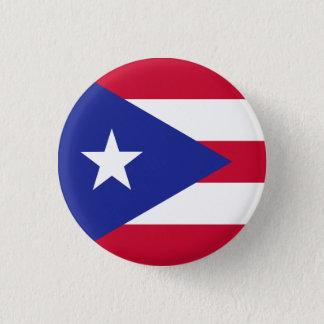 Bóton Redondo 2.54cm Bandeira de Puerto Rico