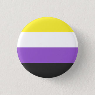 Bóton Redondo 2.54cm Botão da bandeira de Nonbinary