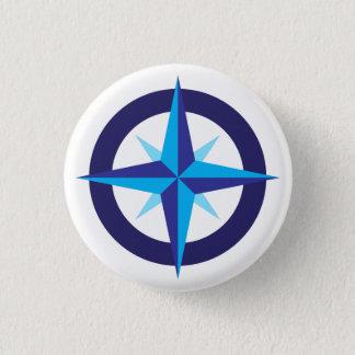 Bóton Redondo 2.54cm Botão da estrela do compasso do navio