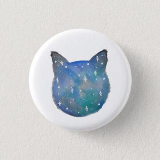 Bóton Redondo 2.54cm Botão de Pinback do gato da galáxia