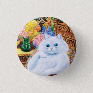 Bóton Redondo 2.54cm Botão do gato de Louis Wain, gato engraçado do