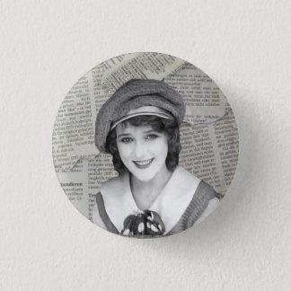 Bóton Redondo 2.54cm Botão do Nymphet de Mary Pickford