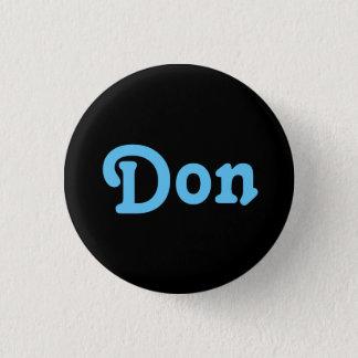 Bóton Redondo 2.54cm Botão Don