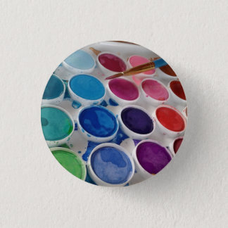 Bóton Redondo 2.54cm Botão redondo da paleta da pintura do artista da