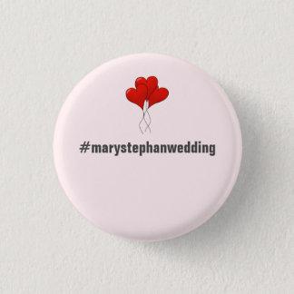 Bóton Redondo 2.54cm Botões de casamento customizáveis completos -