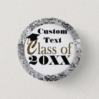 Bóton Redondo 2.54cm Classe de prata dos Sequins de botão da graduação