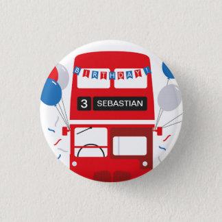 Bóton Redondo 2.54cm Crachá personalizado do aniversário de Londres
