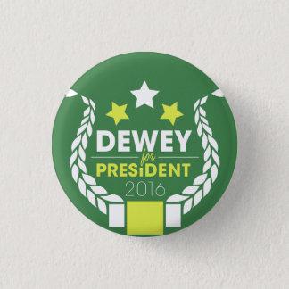 Bóton Redondo 2.54cm Dewey para o presidente Botão