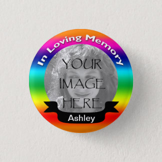 Bóton Redondo 2.54cm Em botão Loving da foto do arco-íris da memória
