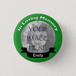 Bóton Redondo 2.54cm Em botão Loving do verde da foto da memória
