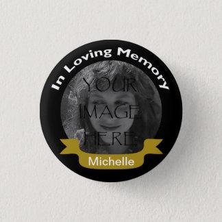 Bóton Redondo 2.54cm Em preto Loving da foto da memória/botão do ouro