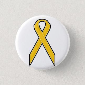 Bóton Redondo 2.54cm Fita amarela da consciência