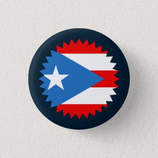 Bóton Redondo 2.54cm Lembrança: Selo: Bandeira de Puerto Rico: Pin
