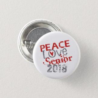 Bóton Redondo 2.54cm Mais velho 2018 do amor da paz