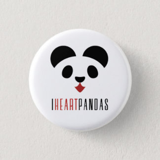 Bóton Redondo 2.54cm Mim pandas do coração