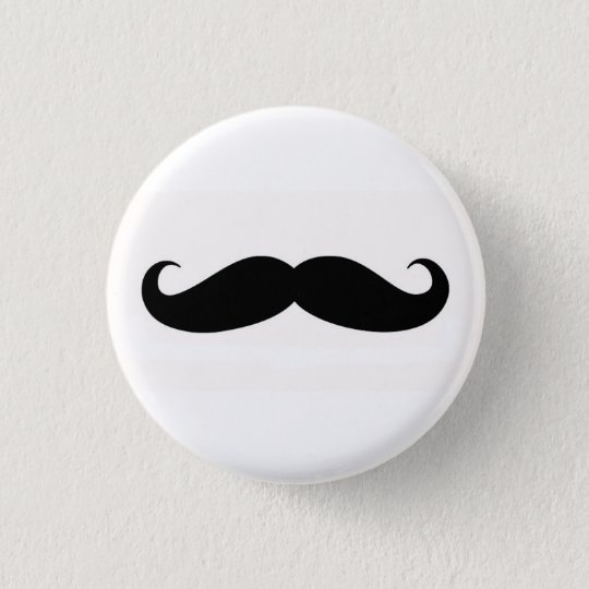 Bóton Redondo 2.54cm Mustachify Pin