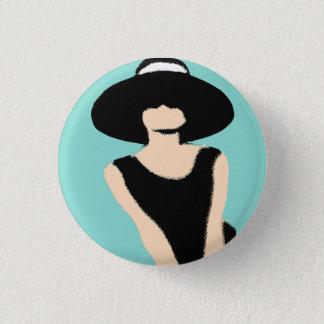 Bóton Redondo 2.54cm NOIVA & de senhora e de chapéu do CO. botão do