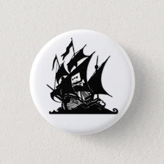 Bóton Redondo 2.54cm O navio do logotipo da baía do pirata
