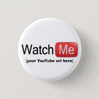 Bóton Redondo 2.54cm Olhe-me em YouTube (básico)