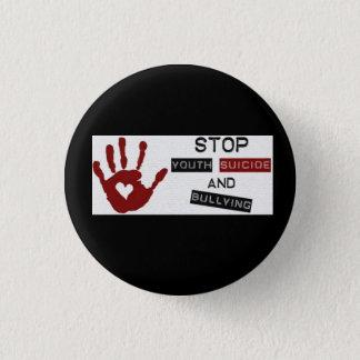 Bóton Redondo 2.54cm Pare de tiranizar e botão do suicídio da juventude