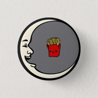 Bóton Redondo 2.54cm Pin da lua e das fritadas