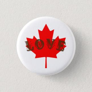 Bóton Redondo 2.54cm Pino do botão da folha de bordo do dia de Canadá