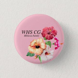 Bóton Redondo 2.54cm Pinos do CG da família do hibiscus