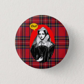 Bóton Redondo 2.54cm Rainha escocesa de Mary da independência do Tartan