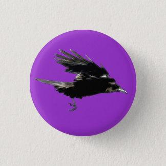 Bóton Redondo 2.54cm Série dos pássaros dos animais selvagens do corvo