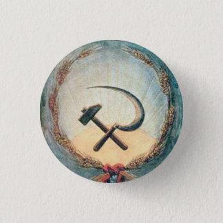 Bóton Redondo 2.54cm Trigo pequeno, 1 botão redondo do martelo & da