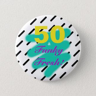 Bóton Redondo 5.08cm 50 & botão fresco Funky de |