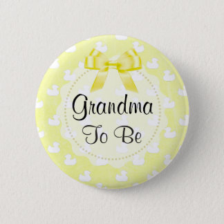 Bóton Redondo 5.08cm A avó a ser arco e bebê amarelos Ducks o botão